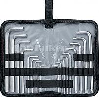 Набор ключей имбусовых HEX-TORX, 18 шт: HEX 1,5–10 мм, T10-T50, CrV, удлиненные, сатин. 12315 (002)
