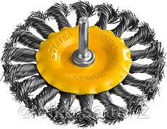 """STAYER """"PROFESSIONAL"""". Щетка дисковая для дрели, жгутированная стальная проволока 0,5мм, 100мм"""