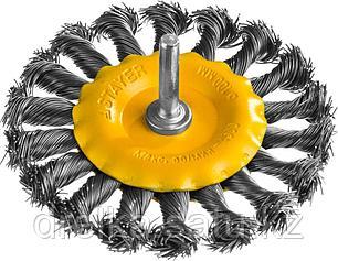 """STAYER """"PROFESSIONAL"""". Щетка дисковая для дрели, жгутированная стальная проволока 0,5мм, 100мм, фото 2"""