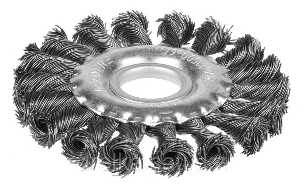 """STAYER """"PROFESSIONAL"""". Щетка дисковая для УШМ, жгутированная стальная проволока 0,5мм, 100ммх22мм"""