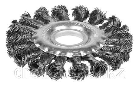 """STAYER """"PROFESSIONAL"""". Щетка дисковая для УШМ, жгутированная стальная проволока 0,5мм, 100ммх22мм, фото 2"""