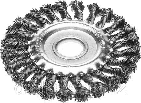 """STAYER """"PROFESSIONAL"""". Щетка дисковая для УШМ, жгутированная стальная проволока 0,5мм, 175ммх22мм, фото 2"""
