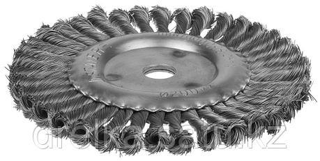 """STAYER """"PROFESSIONAL"""". Щетка дисковая для УШМ, жгутированная стальная проволока 0,5мм, 200ммх22мм, фото 2"""