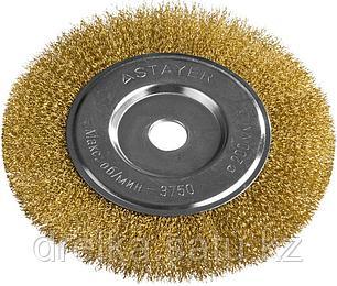 """STAYER """"PROFESSIONAL"""". Щетка дисковая для УШМ, витая стальная латунированная проволока 0,3мм, 200ммх22мм, фото 2"""