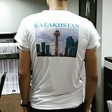 Нанесение лого на футболку клиента