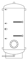 Бак ВТП-1, 750 л