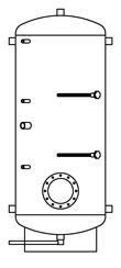 Бак ВТП-1, 1000 л, промышленный
