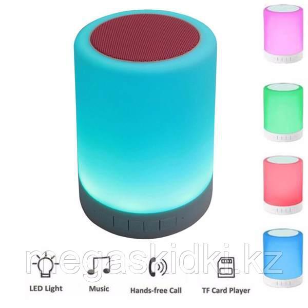 Портативная колонка Bluetooth с подсветкой Y02 Бело-красный