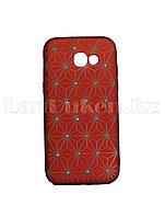 Чехол для смартфона Samsung SM A520 Galaxy Remax со стразами красный