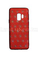 Чехол для смартфона Samsung S9 Remax со стразами красный