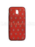 Чехол для смартфона Samsung Galaxy J530/J5 Remax со стразами красный