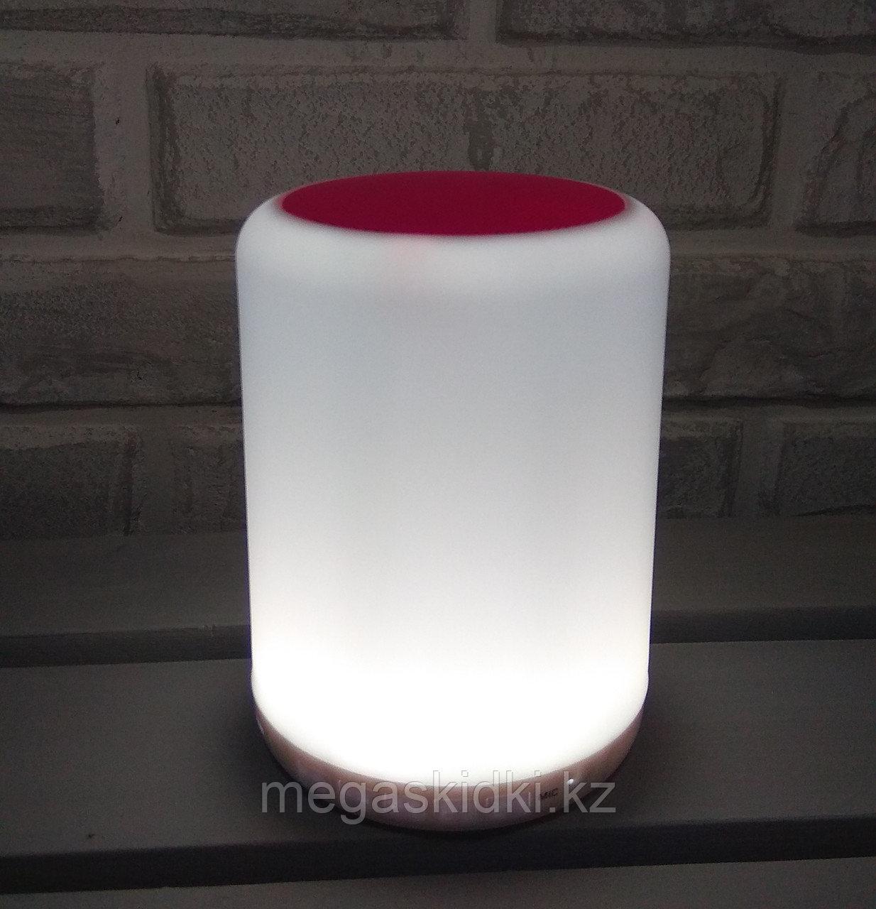 Портативная колонка Bluetooth с подсветкой Y02 Бело-розовый