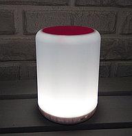 Портативная колонка Bluetooth с подсветкой Y02 Бело-розовый, фото 1