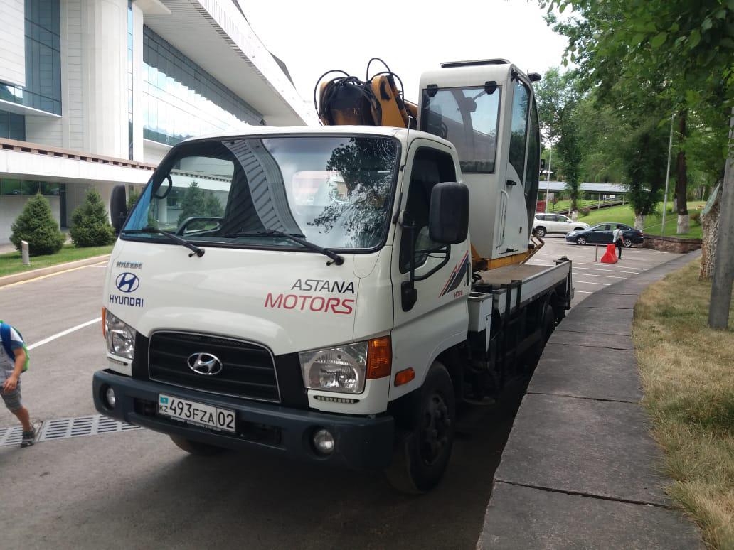 Аренда  автовышки АГП  Hyundai 20 метров в Алматы
