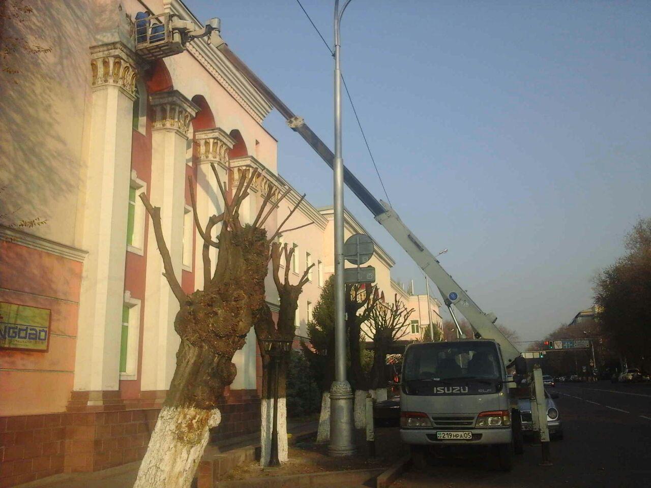 Аренда  автовышки АГП  Isuzu 16 метров в Алматы