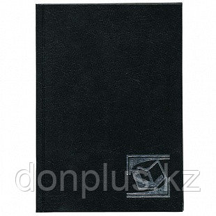"""Ежедневник INDEX """"БУМВИНИЛ"""" А6, недатированный, 256 страниц, черный"""