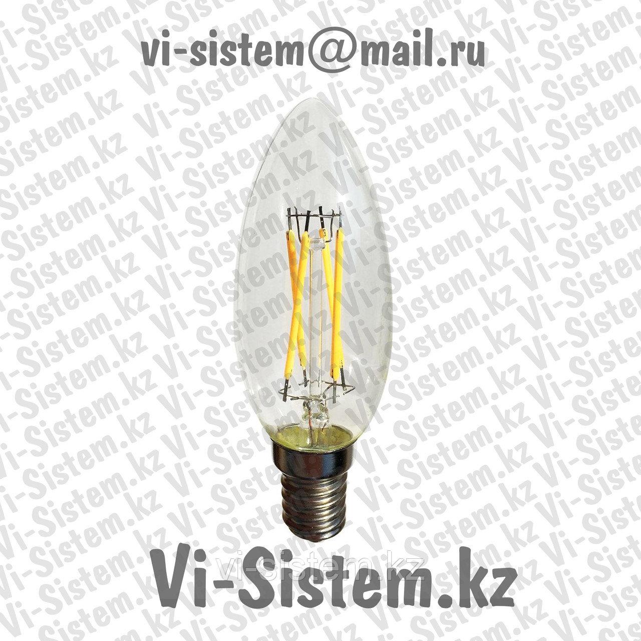 Светодиодная лампа накаливания 4W E14 6400K