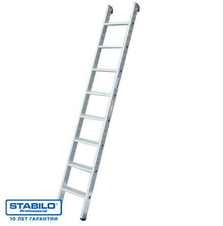 Односекционная приставная лестница со ступенями 15 ступ. KRAUSE STABILO