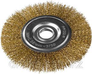 DEXX. Щетка дисковая для УШМ, витая стальная латунированная проволока 0,3мм, 150ммх22мм, фото 2