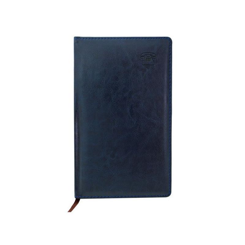 """Телефонная книга INDEX """"NATURE"""" искуственная кожа, А5, 192 страницы, синяя"""