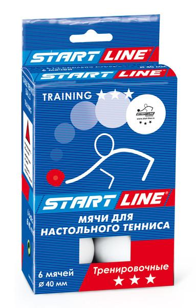 Мячи для настольного тенниса TRAINING 3*, 6 мячей в упаковке, белые