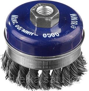 DEXX. Щетка чашечная усиленная для УШМ, жгутированная стальная проволока 0,5мм, 80ммхМ14, фото 2