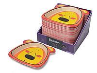 9470 FISSMAN Плоская тарелка 21x21 см ЛЬВЕНОК из бамбукового волокна