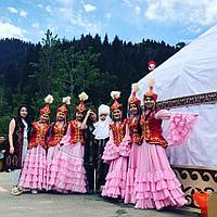 Казахские платья на прокат в Алматы Томирис