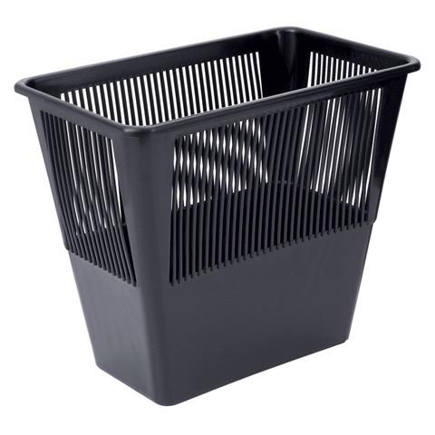 Корзина для мусора СТАММ 12 литров, прямоугольная, черная
