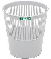 Корзина для мусора СТАММ 14 литров, сетчатая, серая
