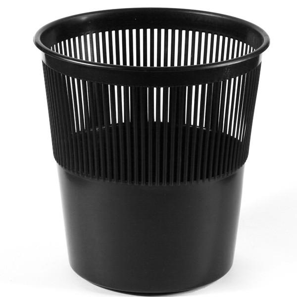 Корзина для мусора СТАММ 14 литров, сетчатая, черная