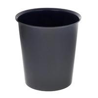 Корзина для мусора СТАММ 14 литров, цельная, черная