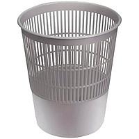 Корзина для мусора СТАММ 18 литров, сетчатая, серая