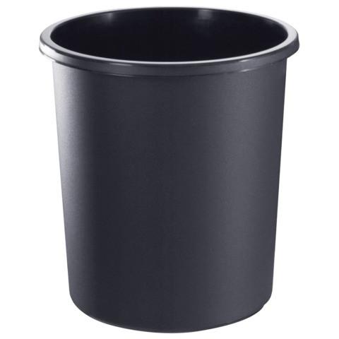 Корзина для мусора СТАММ 18 литров, цельная, черная