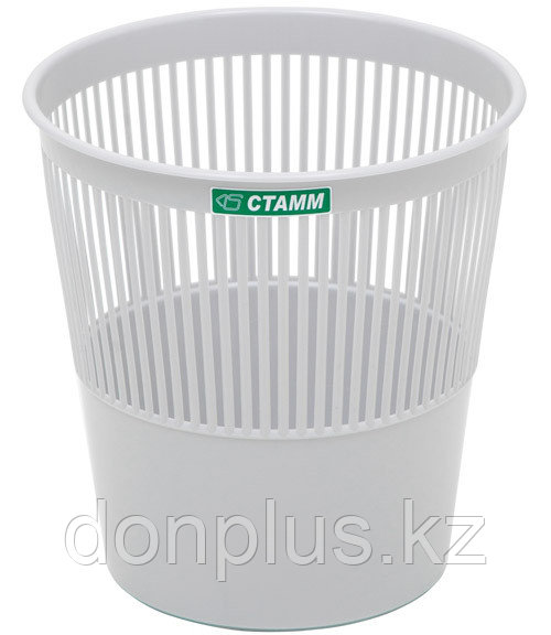 Корзина для мусора СТАММ 9 литров, сетчатая, серая
