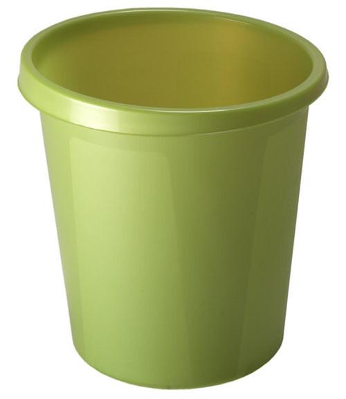 Корзина для мусора СТАММ 9 литров, цельная, Лайм