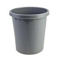 Корзина для мусора СТАММ 9 литров, цельная, серая
