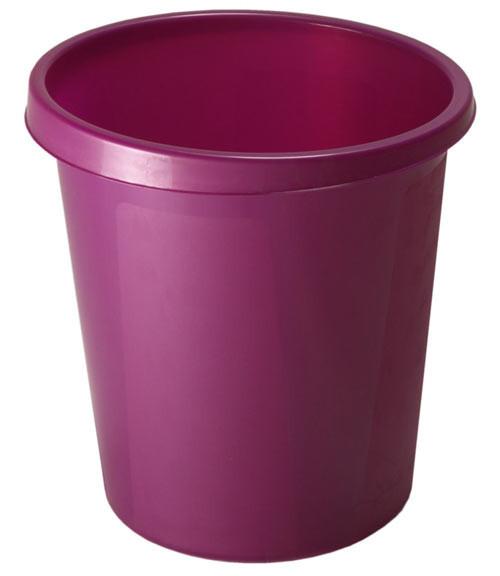 Корзина для мусора СТАММ 9 литров, цельная, Слива