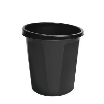 Корзина для мусора СТАММ 9 литров, цельная, черная