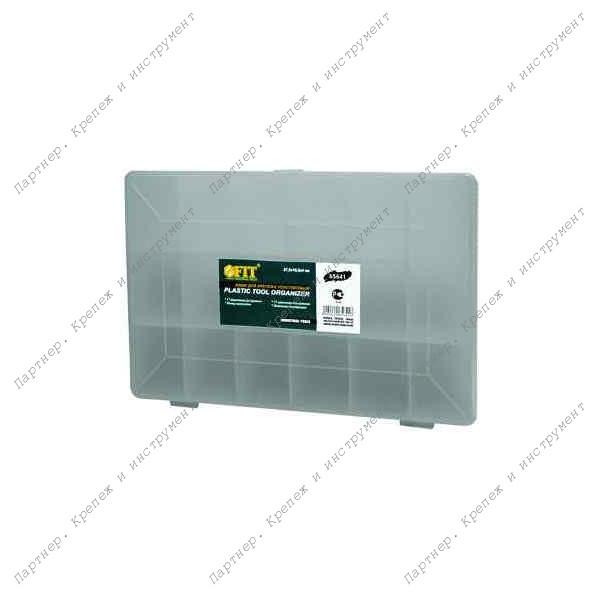 """(65641) Ящик для крепежа (органайзер) прозрачный 10"""" (27,5 х 18,5 х 4,2 см)"""