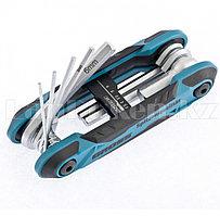 Набор ключей имбусовых Hex, 1,5-8 мм CrV, складные, 8 шт. 16412 (002)