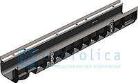 DN100 Лоток водоотводный Gidrolica Super ЛВ -10.14,5.12 - пластиковый, кл. Е600