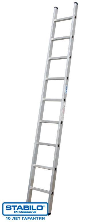 Односекционная приставная лестница с перекладинами 9 ступ. KRAUSE STABILO