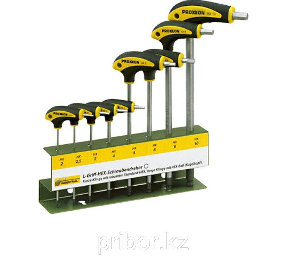 22650 Proxxon Набор шестигранных отверток с L-образной ручкой, 8 шт