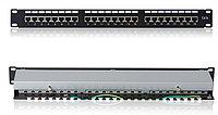 """Патч-панель STP, 19"""" (1U), 24 порта RJ-45, Cat.5e, Dual IDC, AMP PP19-1U-STP24-Cat.5e-DIDC"""