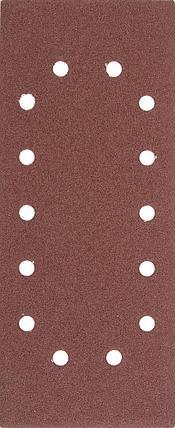 """Листы шлифовальные универсальные STAYER """"MASTER"""" на зажимах, 14 отверстий по периметру, для ПШМ, 115х280мм, фото 2"""