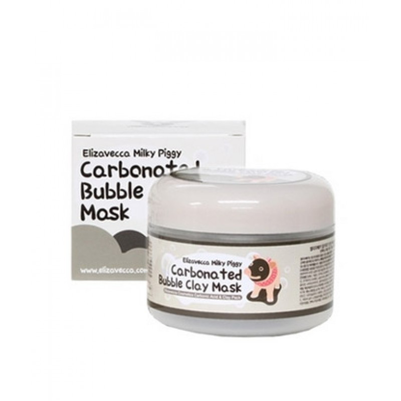 Elizavecca milky piggy carbonated bubble clay mask  Глиняно-пузырьковая маска для лица 100ml