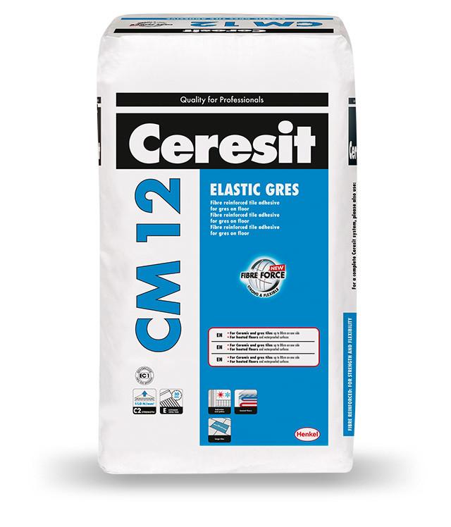 Клей для керамогранита и крупноформатной плитки Ceresit CМ 12, 25 кг
