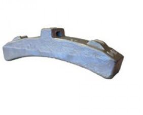 Колодка тормозная для моторвагонного подвижного состава тип Ф ГОСТ 28186-89