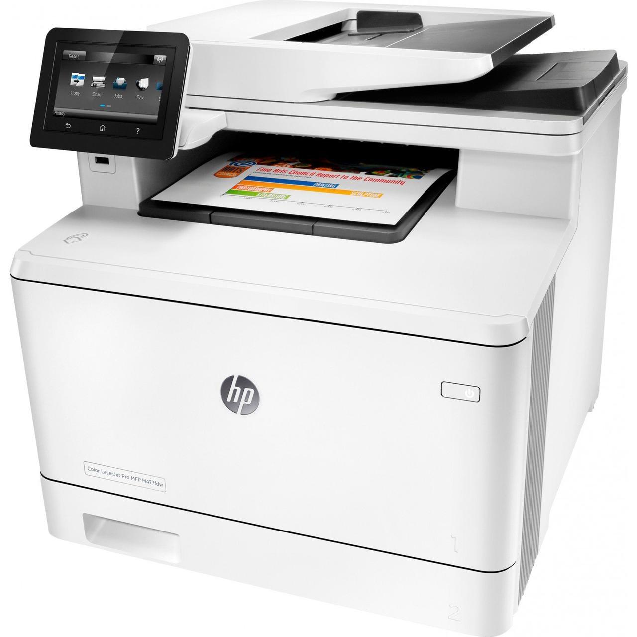 Лазерный Цветной принтер-сканер-копир МФУ HP M477fdw CF379A Color LaserJet Pro(МФП)